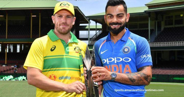 India vs Australia 2nd ODI Cricket Match and News Updates: Australia Tour of India 2019