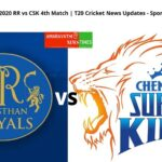 RR vs CSK 4th T20 Match | Dream11 IPL 2020Cricket News Updates